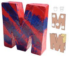 Art Projects for Kids: 3D Paper Mache Letter