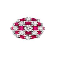 Platinum, Diamond and Ruby Ring, Tiffany & Co.