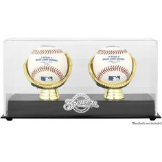 Milwaukee Brewers Fanatics Authentic Gold Glove Double Baseball Logo Display Case - $34.99
