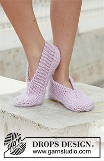 "Garnstudio, Drops Design Free pattern DROPS 111 29 knitted slippers in andes or eskimo DROPS knitted slippers in ""Eskimo"". ~ DROPS Design An old favorite ~ great for… Ravelry: knitted slippers in ""Eskimo"" pattern by DROPS design - did these in f Knit Slippers Free Pattern, Knitted Slippers, Slipper Socks, Crochet Slippers, Knit Or Crochet, Pink Slippers, Crochet Granny, Bedroom Slippers, Crochet Gifts"
