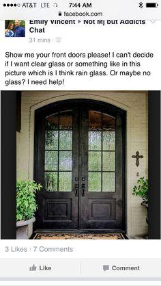 Front doors with rain glass