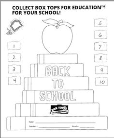 Back-to-school box tops collection sheet! Free download on ptotoday.com.