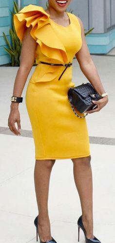 Round Neck Plain Bodycon Dress (affiliate)