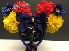 Snow White Inspired Ear Headband by FloraFaunaAndME on Etsy