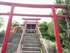 Imaichi inari shinto shrine in Japan. Two red gates stand on the area of a Shinto shrine. The main hall of Imaichi inari shrine is up the stairs. http://japan-temple-shrine.blogspot.jp/2013/05/two-red-gates-stand-on-area-of-shinto.html
