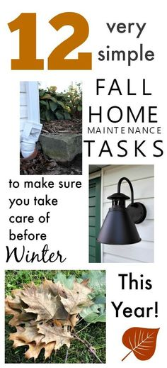 12 Fall Home Maintenance Tasks - get 'em done before winter!