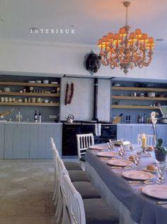 Belgian Pearls - Open shelving, rustic lower cabinets