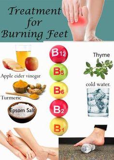 burning toes treatment