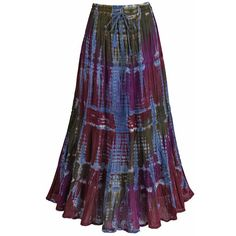 Tie-Dye Lacy Party Skirt at Catalog Classics   LE3917