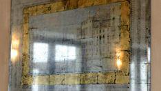 состаренное зеркало Вид на канал Венеции