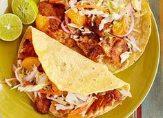Fish Tacos with Cabbage-Orange Slaw http://wm13.walmart.com/Food-Entertaining/Recipes/22743