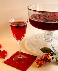 Cranberry Party Drink...only 3 ingredients and 5 minutes prep.