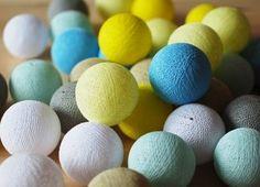 Zestaw Sunny Turquoise by pretty pleasure od Cotton Ball Lights Cotton Ball Lights, Pretty, Friends, Spring, Amigos, Boyfriends, True Friends