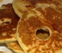 Apple slices dipped in pancake batter & cooked on the griddle with cinnamon & nutmeg