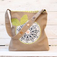 Doily Flower Bag | Sew Mama Sew |
