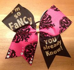 I'm so fancy you al ready know  cheer bow cheerbow  by Bellabows76, $14.00