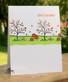 Snowy Moose Creations: A Simple Fall Scene Stampin Up Happy Scenes