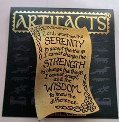 Serenity prayer recovery AA- Vintage Jonette Jewelry-from #sideeffectsny Etsy... $20.00