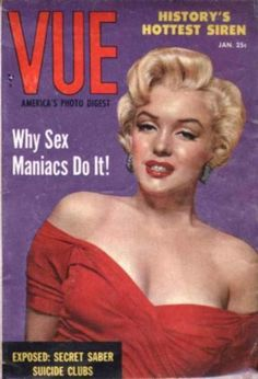 Vue - January 1955, magazine from USA. Front cover photo of Marilyn Monroe by Frank Powolny, 1952.