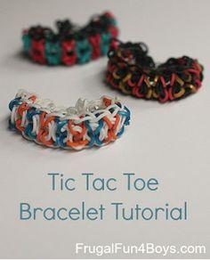 Rainbow Loom Tic Tac Toe Bracelet