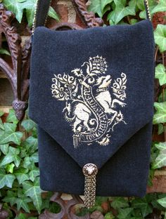 Medieval Beastie Purse --- Your own Heraldic Display can be on a Bag like this