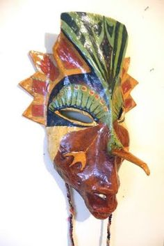 awesome papier mache mask