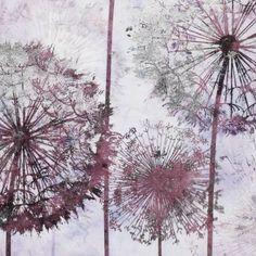 Wandbild, Pusteblume, Tannenholz, Leinwand, Folie Detailansicht