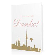 Dankeskarte Hamburger Liebe in Antikrosa - Klappkarte hoch #Hochzeit #Hochzeitskarten #Danksagung #Foto #kreativ #modern https://www.goldbek.de/hochzeit/hochzeitskarten/danksagung/dankeskarte-hamburger-liebe?color=antikrosa&design=0ef4e&utm_campaign=autoproducts