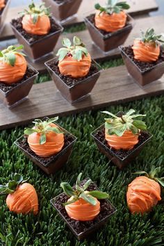 Carrot Patch Dirt Pudding Cups - 19 Traditionally Decorated Easter Desserts to Unwrap the Season