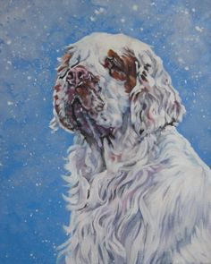 I love Clumber Spaniels, and I love this artists (L.A. Shepard) work