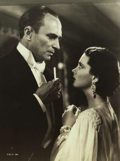 CONRAD VEIDT and VIVIEN LEIGH       Dark Journey 1937