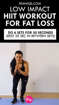 3 Low-Impact HIIT Cardio Exercises For Maximum Fat Burn! As much as we love the way we feel doing those dynamic and explosive movements that typically show up in our high intensity interval training routines, sometimes you have to take a b Pilates Training, Pilates Workout, Interval Training Workouts, Workout Mix, Leg Workouts, Cardio Workouts, Pilates Reformer, Low Impact Hiit, Low Impact Cardio Workout
