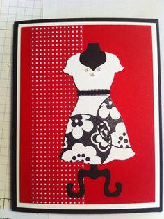 Dress frame notecard - Stampin' Up!