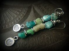 Ancient Roman Glass Lotus Flower Charm Beaded by YuccaBloom