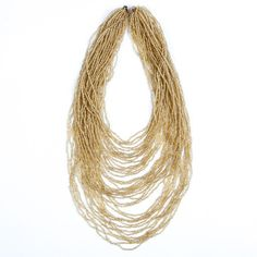 Maasai Glass Bead Necklace Gold - Lov'edu - Ethical, Fair Trade & Handmade Accessories, Jewellery, Home Decor & Giftshttp://www.lovedu.co.uk/collections/organic-handmade-necklaces/products/maasai-glass-bead-necklace-gold