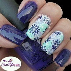 Nail Art Designs In Every Color And Style – Your Beautiful Nails Beautiful Nail Art, Gorgeous Nails, Stamping Nail Art, Stamping Plates, Manicure E Pedicure, Nagel Gel, Flower Nails, Cute Nail Designs, Creative Nails