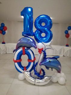 18th birthday balloon decoration