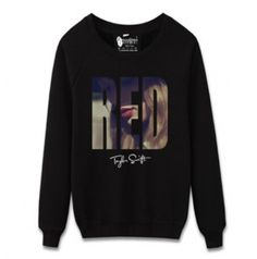 Taylor Swift red sweatshirt for men crew neck design