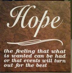Hope.... ceramic tile vinyl lettering