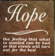 Hope.... ceramic tile vinyl lettering