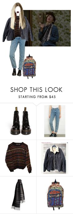 """""""Flawlessfabulosaaagrr"""" by n-fairchild ❤ liked on Polyvore featuring Dr. Martens, BDG, INDIE HAIR, Levi's and Burberry"""