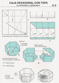 hexagonal origami gift box instructions