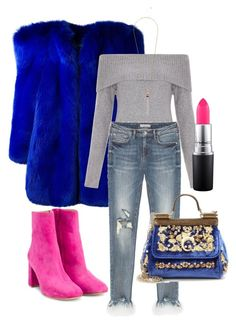 """""""Bright"""" by spartesnayaa on Polyvore featuring мода, Yves Saint Laurent, New Look, Maryam Nassir Zadeh, MAC Cosmetics и Dolce&Gabbana"""