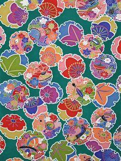 Kimono green-Yukiwa Toys pattern of children Japanese Textiles, Japanese Patterns, Japanese Fabric, Japanese Prints, Japanese Design, Japanese Art, Japanese Kimono, Textile Patterns, Textile Prints