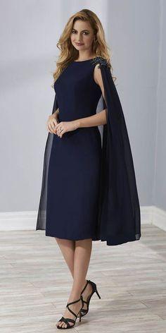 75c579ad05cc Gorgeous Chiffon Jewel Neckline Sheath/Column Mother Of The Bride Dress  With Beadings