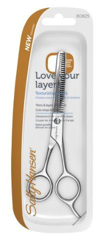 Sally Hansen Love Your Layers Texturizing Shears by Sally Hansen. $11.98. Thins and layers thick hair. Toothed blade. Cuts wisps and fringe. Precise, quiet cutting. Sally knows nails are the best accessory. Now Sally makes it easy to get a salon effect, anytime, any place. Find your favorite today.. Save 23% Off!
