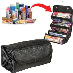 1acc7c33b8b8  Visit to Buy  Fashion Cosmetic Roll N Go Cosmetic Bag large capacity  Multifunctional Storage package makeup tool bag Jewelry Organizer