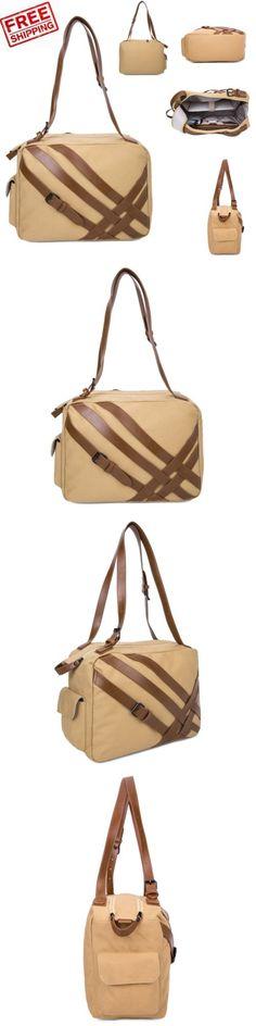 1e58134b3248 Gym Bags 68816  Gym Bag Canvas Travel Duffel Outdoor Sports Tote Handbag  Shoulder Weekend Khaki
