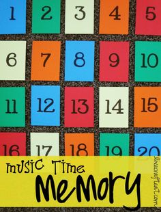 SINGING TIME IDEA: primary music time memory. Good for reviewing songs.