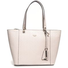 Guess Bag with logo detail (2.100 CZK) ❤ liked on Polyvore featuring bags, handbags, zip handbag, light pink handbags, pocket purse, pink bag and light pink purse